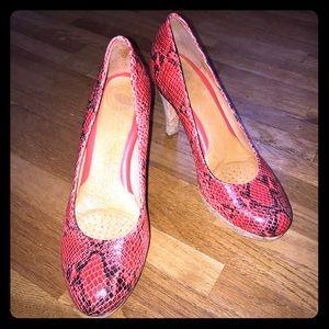 Nurture Red Snake heels